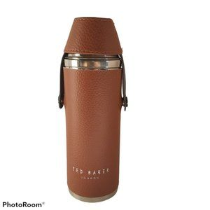Ted Baker hip flask 300ml tan faux leather